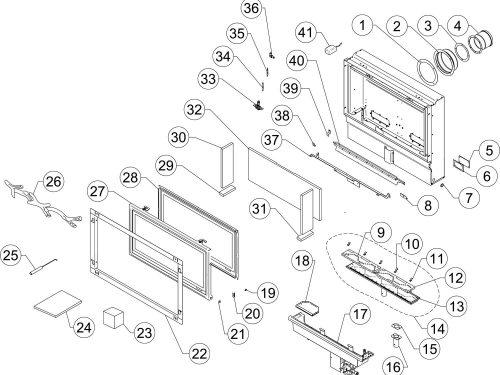 Studio 1 Slimline Logs - LPG - Balanced Flue (123-489)