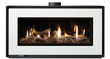 Studio 2 MK2 Freestanding Driftwood/Black Glass - LPG - Conventional Flue