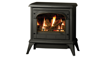 Clarendon Medium Clear Door Logs - LPG - Conventional Flue