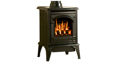 Clarendon Small Clear Door Coals - NG - Conventional Flue