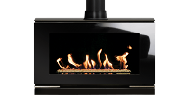 Riva Vision Large White Stones - NG - Conventional Flue (526-008)