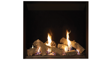 Riva2 750HL Logs/Black Glass - NG - Conventional Flue (134-020)