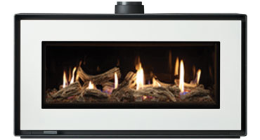 Studio 2 MK2 Freestanding Driftwood/ Black Glass - LPG - Balanced Flue