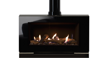Riva Vision Large Logs - LPG - Conventional Flue Black Reed (526-599) /1